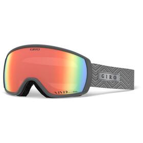 Giro Facet Svømmebriller Damer, titanium zag/vivid infrared